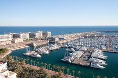 Hamn av Alicante, Spanien Arkivbild