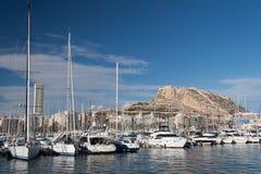 Hamn av Alicante, Spanien Royaltyfria Bilder