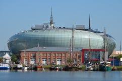 Hamn av Bremerhaven i Tyskland Royaltyfri Fotografi
