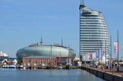 Hamn av Bremerhaven i Tyskland Royaltyfria Foton