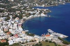 Hamn av den Agia marina på den Leros ön, Grekland Arkivbild