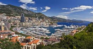 Hamn av den Monaco furstendömet Arkivfoton