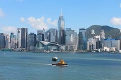 Hamn av Hong Kong Fotografering för Bildbyråer