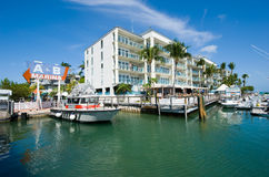 Hamn av Key West Arkivbild
