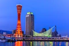 Hamn av Kobe i Hyogo Japan Arkivfoto