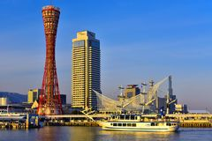 Hamn av Kobe i Hyogo Japan Royaltyfri Foto