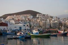 Hamn av Los Cristianos, Tenerife Fotografering för Bildbyråer