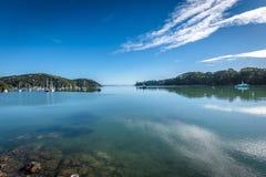 Hamn av Mangonui, Nya Zeeland Arkivbilder