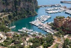 Hamn av Monaco Arkivfoto