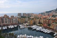 Hamn av Monte - carlo, Monaco Fotografering för Bildbyråer