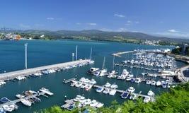 Hamn av Ribadeo, Lugo, Spanien royaltyfria foton