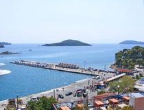 Hamn av Skiatos Grekland 11 Arkivbild