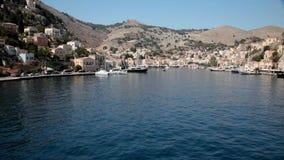Hamn av Symi, Grekland