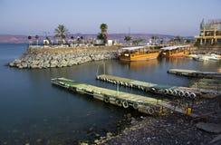 Hamn av Tiberias Fotografering för Bildbyråer