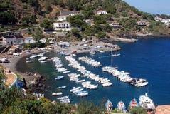 Hamn av Ustica Royaltyfri Foto