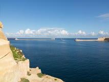 Hamn av Valletta, Malta Arkivfoto