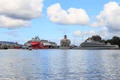 Hamn Bergen, Norge royaltyfri fotografi