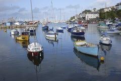 Hamn Devon England för fartygBrixham hamn Arkivbilder