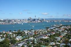 Hamn för Auckland ` s Waitemata från Devonport Royaltyfria Bilder