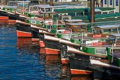 Hamn för Barkassen pråmhamburgare royaltyfri fotografi