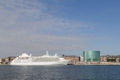 Hamn för Köpenhamn för kryssningskepp Royaltyfria Foton