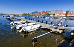 Hamn för litet fartyg i den Karlskrona staden Fotografering för Bildbyråer