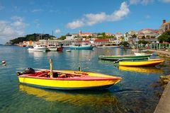 Hamn för St George ` s, Grenada Royaltyfria Foton