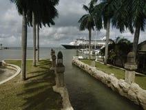 Hamn från Oranjestad, Aruba Royaltyfria Bilder