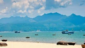 Hamn för Da Nang, Vietnam Royaltyfria Foton
