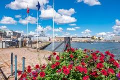 hamn helsinki finland Arkivbild