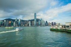 hamn Hong Kong Arkivfoton