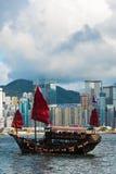 hamn Hong Kong Royaltyfri Foto