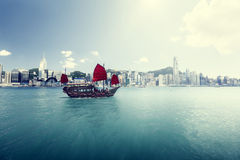 hamn Hong Kong arkivbilder