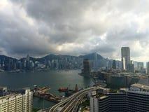 hamn Hong Kong Arkivfoto