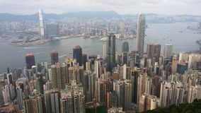 hamn Hong Kong Royaltyfri Fotografi