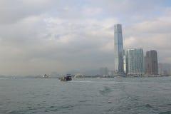 hamn Hong Kong Arkivbild