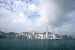 hamn Hong Kong victoria Fotografering för Bildbyråer