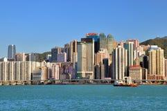 hamn Hong Kong victoria royaltyfria bilder