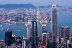 hamn Hong Kong victoria Arkivbild
