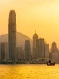 hamn Hong Kong victoria Royaltyfri Foto
