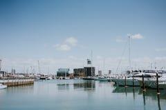 Hamn i Auckland Royaltyfri Foto