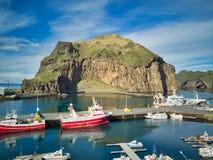 Hamn i de Westman öarna Royaltyfri Fotografi