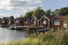 Hamn i det Stenso området, Kalmar, Sverige Arkivbilder