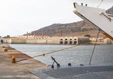 Hamn i Favignana, Sicilien, Italien Arkivfoton