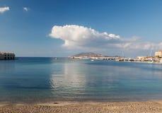 Hamn i Favigniana, Aegadians öar, Sicilien, Italien Arkivbild