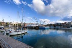 Hamn i Genua, Italien Arkivbilder