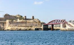 Hamn i La Valletta, Malta Arkivfoto