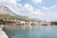 Hamn i Makarska Royaltyfria Bilder
