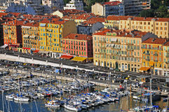 Hamn i Nice Arkivfoto