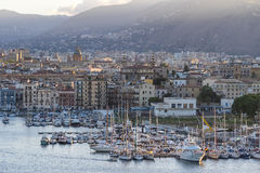 Hamn i Palermo, Sicilien, Italien Arkivfoto